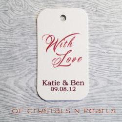 24 With Love Customised Gift Tags - Wedding Favor Tags - Thank you tags - Wedding Gift Tags - Product Labels